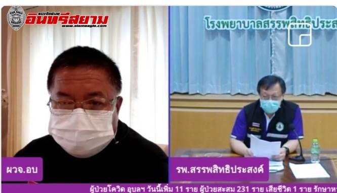 อุบลราชธานี-พบผู้ป่วยโควิดเพิ่ม 11 ราย รวมเป็น 231 ราย เสียชีวิต 1 ราย