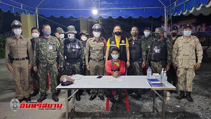 สุพรรณบุรี-ฝ่ายปกครองจังหวัดจับวัยรุ่นฝ่าเคอร์ฟิวส่งยาเสพติด
